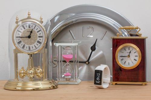time clocks hourglass