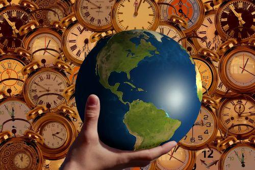 time clock globe