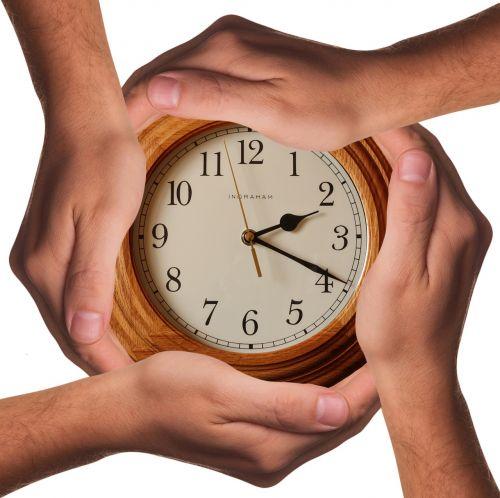 time clock hands