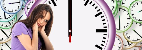 time  woman  face
