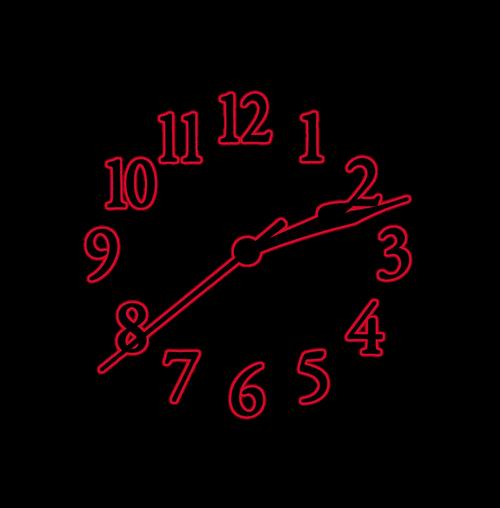 time  clock  face