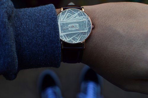 time  money  clock