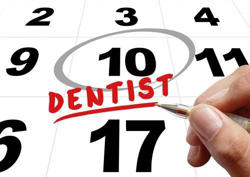 time dentist hand