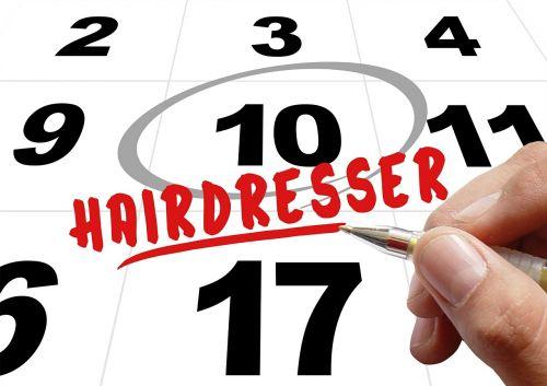 time hairdresser hand