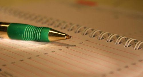 time appointment calendar pen