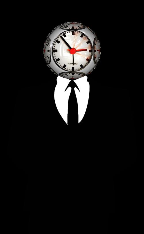 time clock man