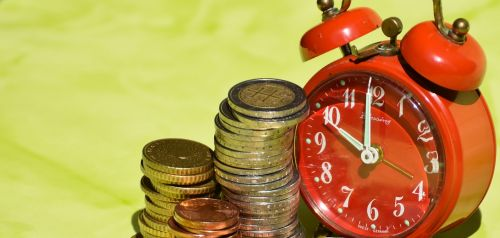 time is money coins currency