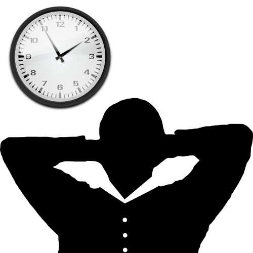 time management clock relaxed