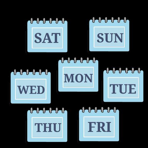 time management week calendar