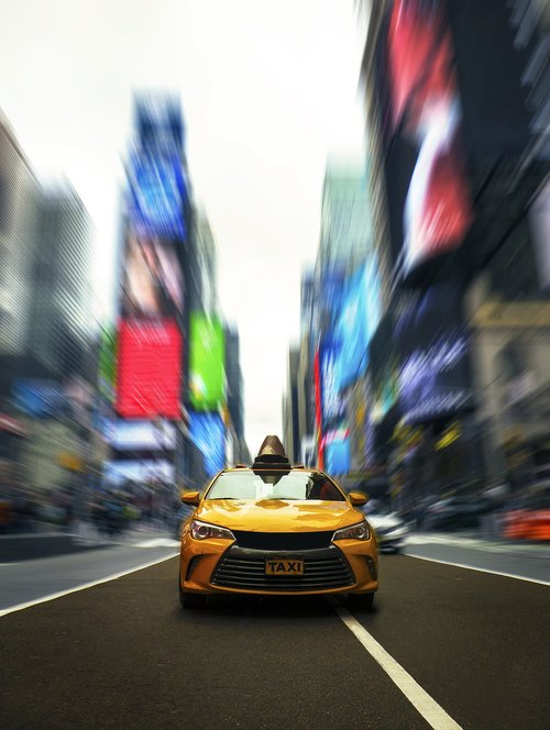times square  taxi cab  taxi