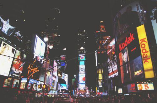 reklama, amerikietis, amerikietis, architektūra, pritraukimas, skelbimų lentos, miestas, žibintai, Manhatanas, naujas & nbsp, York, naktis, nyc, ženklai, gatvė, kartus & nbsp, kvadratas, vieningos & nbsp, valstijos, miesto, usa, kartus aikštėje naktį