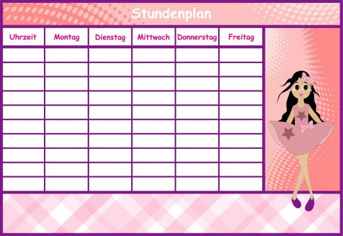 timetable girl time management