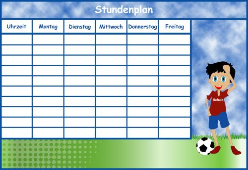 timetable boy time management