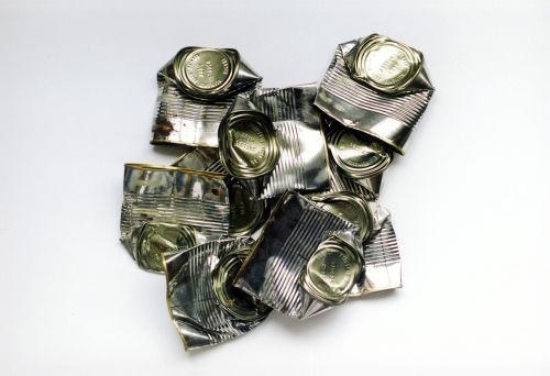 tin can cans dented metal
