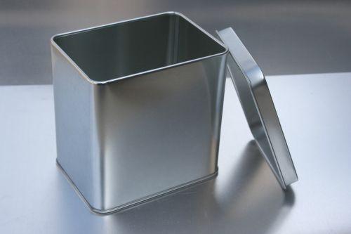 tin can open tea caddy packaging