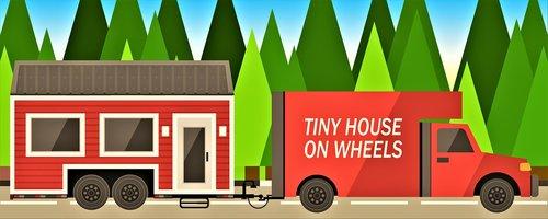tiny house  scene  clip art