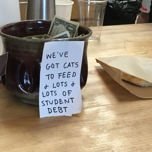 tip jar coffeeshop tips