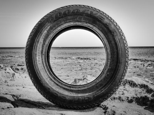 tire discarded rubber