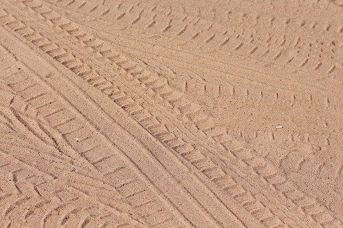 tire prints  tire tracks  sand