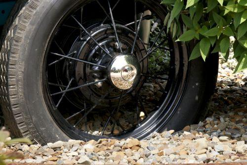 Tire Sunk In Gravel