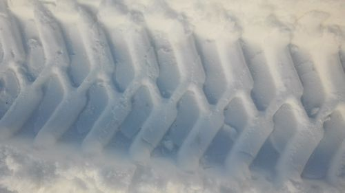 tire track snow reprint