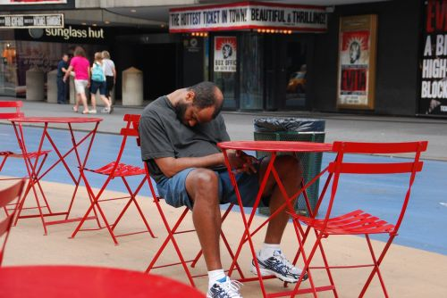 tired sleep time square
