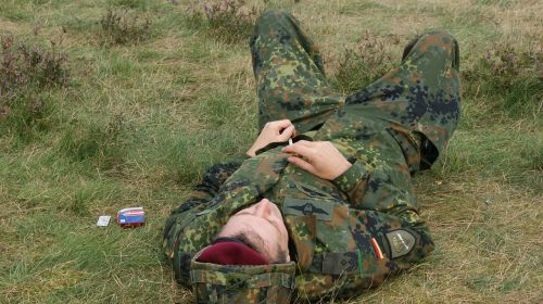tired german soldier are