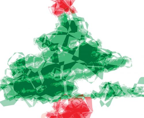Tissue Paper Christmas Tree