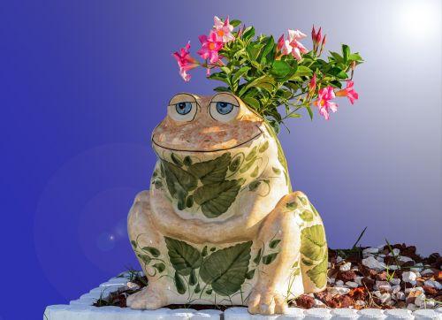 toad porcelain planter