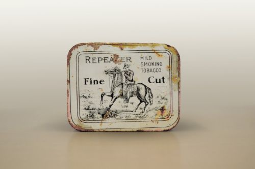 tobacco tin snuff fine cut