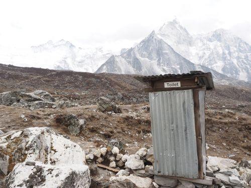 toilet nepal everest