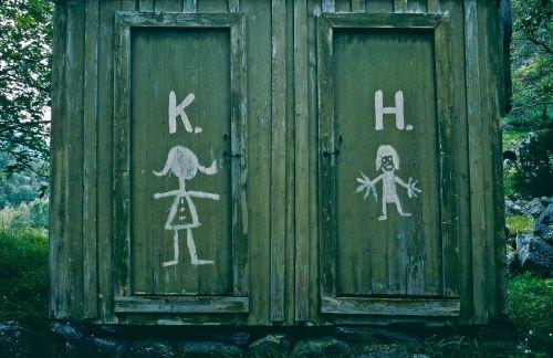 toilet norway wooden door