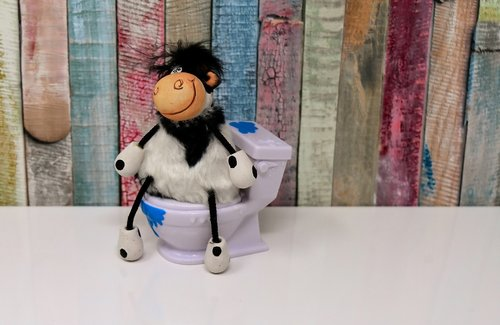 toilet  cow  figure