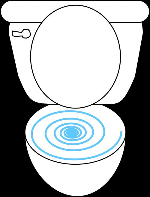 toilet open bowl