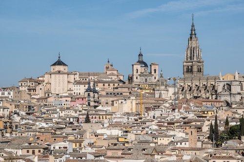 toledo  cathedral  landscape
