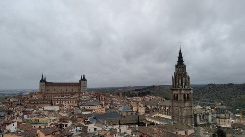 toledo  panoramic  cathedral