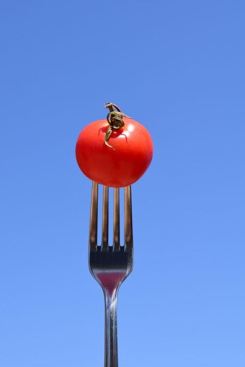 tomato fork eat