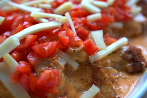 tomato  cheese  schnitzel