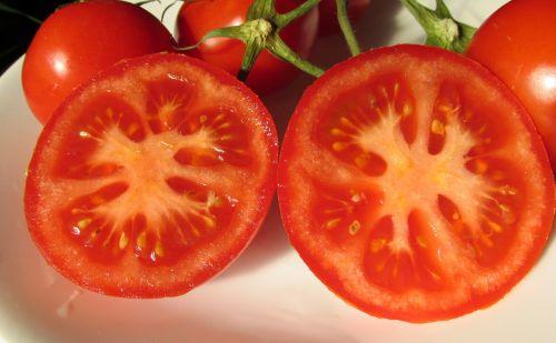 tomatoes sliced food