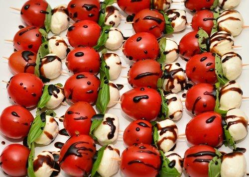 tomatoes  tomato mozzarella  buffet