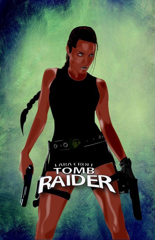 tomb raider poster woman
