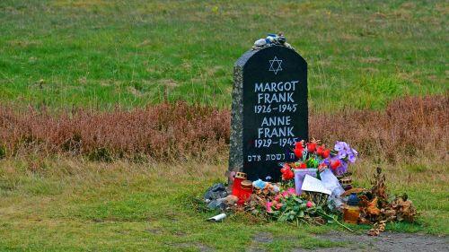 tombstone anne frank memorial