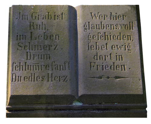 tombstone book inscription
