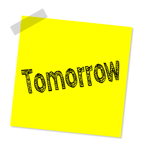 tomorrow message note
