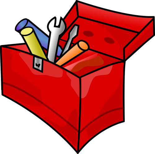 toolbox tools red