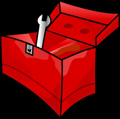 toolbox red metal