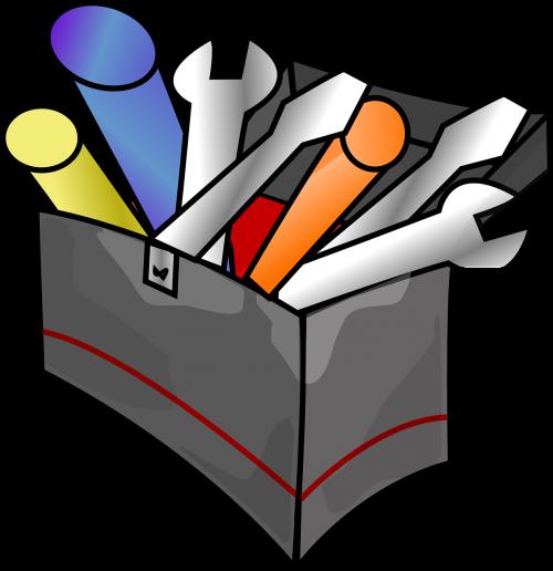 toolbox metallic maintenance