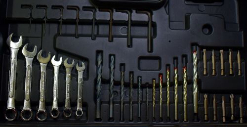 toolkit wrench drilling bits