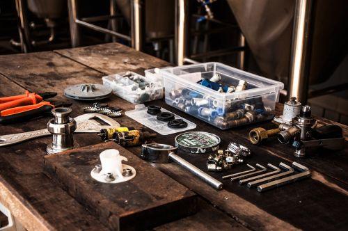 tools parts work bench