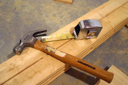 įrankiai,plaktukas,Ruletė,statyba